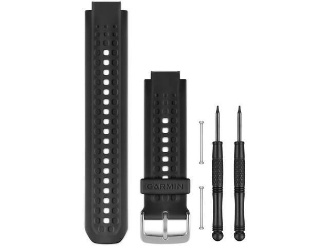 Garmin Bracelets en silicone pour Forerunner 25, black/silver